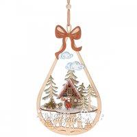 Koopman Деревянная елочная игрушка Новогодняя История - Веселый снеговик 27 см, подвеска DH8002740