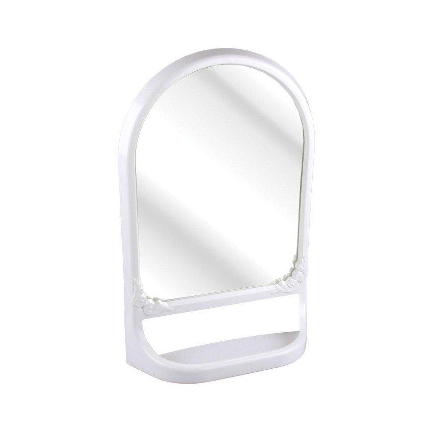Зеркало с полкой, белое
