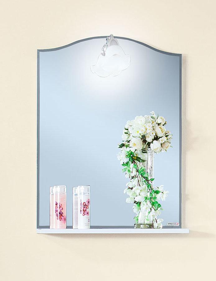 Зеркало Лючия 58 белый глянец Бриклаер