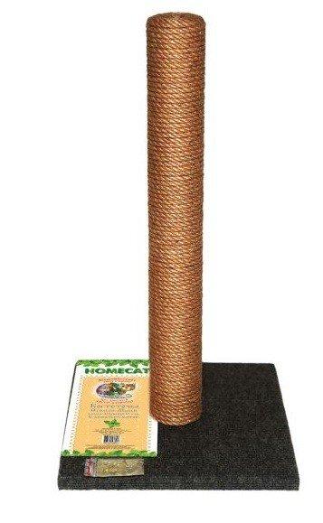 Когтеточка-столбик для кошек, макси, цвет: серый, 41х41x63 см