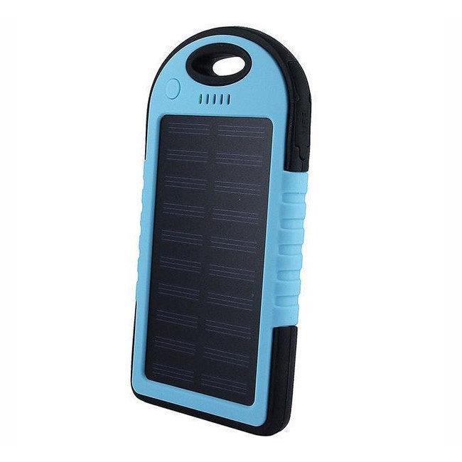 Power Bank на солнечных батареях Solar Charger 5000 МАН(голубой)