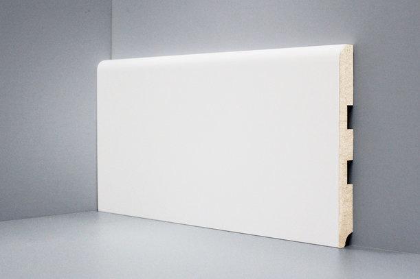 Плинтус из МДФ U102-150 DecoLine Deartio L-XL белый 16х2050, 1 метр 150х16х2050