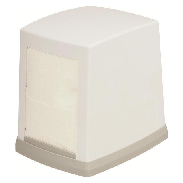 диспенсер д/салфеток настольный 12х10х13см светло-серый пластик