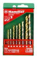 Набор сверл Hammer No2 (8шт.) 4-8мм