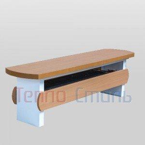 Радиатор-скамейка Techno KBZ 300-350-1600 с естественной конвекцией, 300 мм x 350 мм x 1600 мм, цвет: Дуб молочный