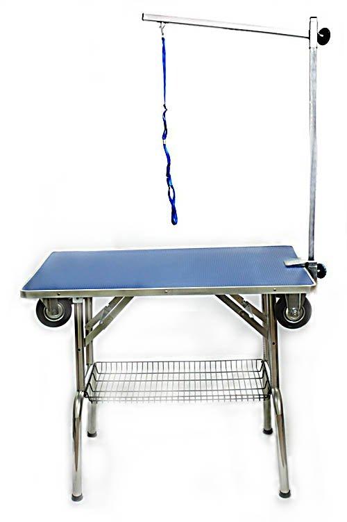 Стол для груминга складной с колёсами MasterGroom № 302-С