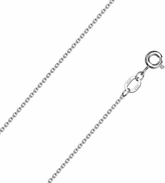 Цепочка из белого золота Красцветмет NC-18-053-3-0-30 с якорным плетением, размер 50 мм