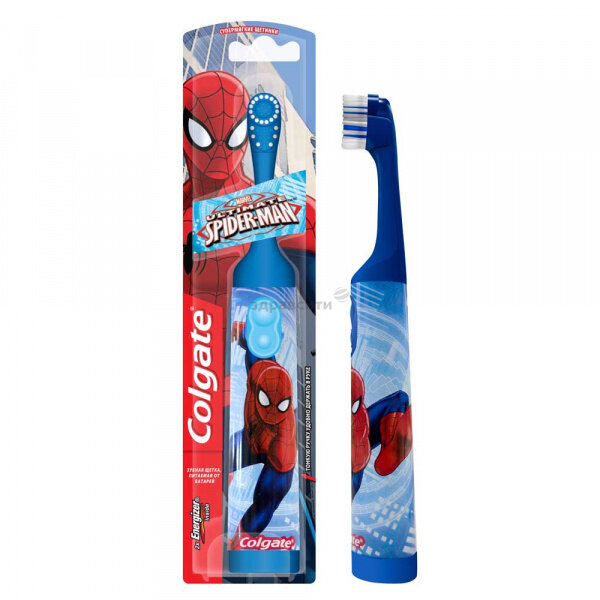 Щетка Colgate (Колгейт) зубная электрическая детская Sponge Bob/Barbie/Spiderman