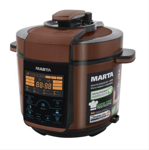 Мультиварка Marta MT-4309 чёрный/медь