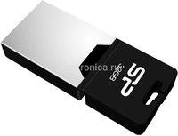 Флеш диск Silicon Power Mobile X20 32ГБ USB2.0 серебристый (SP032GBUF2X20V1K)
