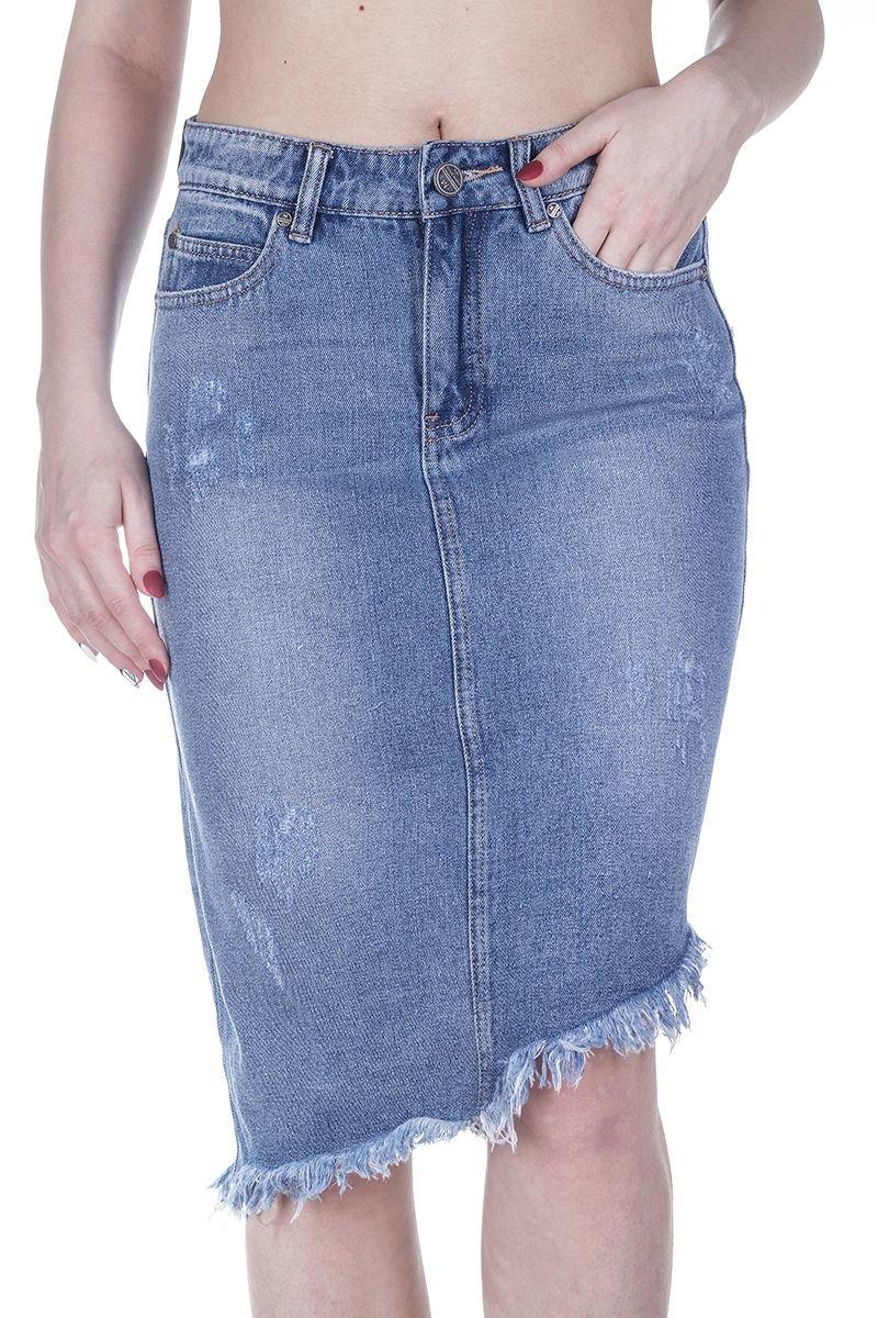 mossmore mr1253t-107 blue-2 синий юбка женская джинсовая