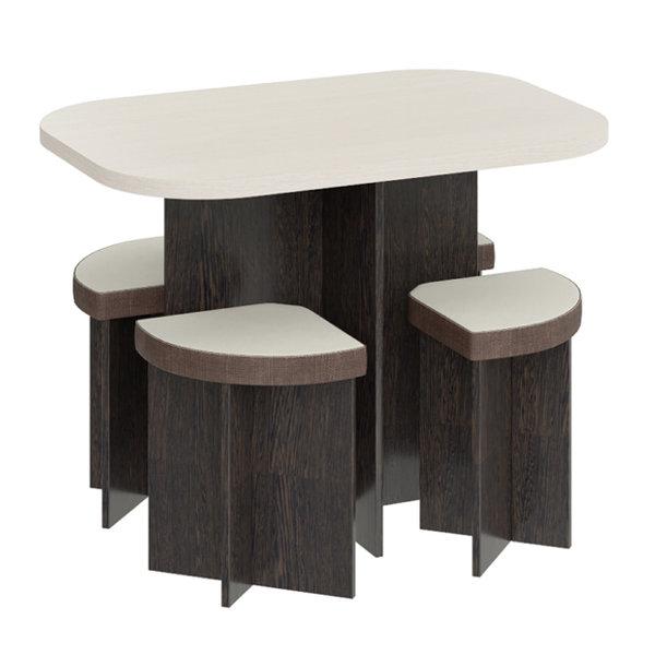 обеденная группа олимп стол и 4 табурета венге цаво/дуб белфорт