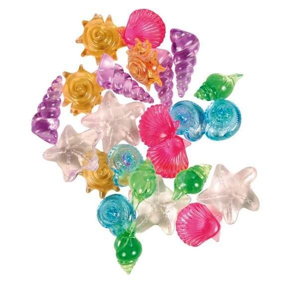 Trixie Декорация для аквариума ракушки прозрачные разноцветные набор