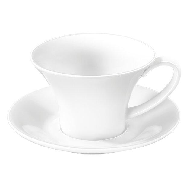 чашка с блюдцем wilmax 430мл фарфор