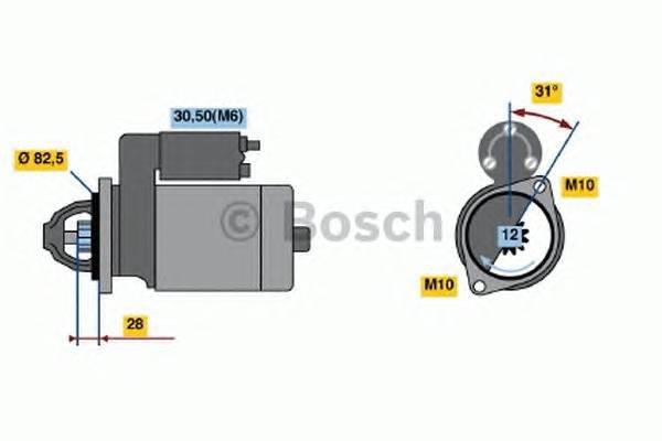 Стартер mercedes-benz sprinter 3 5 c бортовой пла Bosch 0001115074