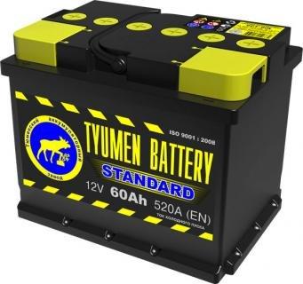 Аккумулятор TYUMEN 60А*ч 520А R (прямая) АПЗ Стандарт 242x175x190