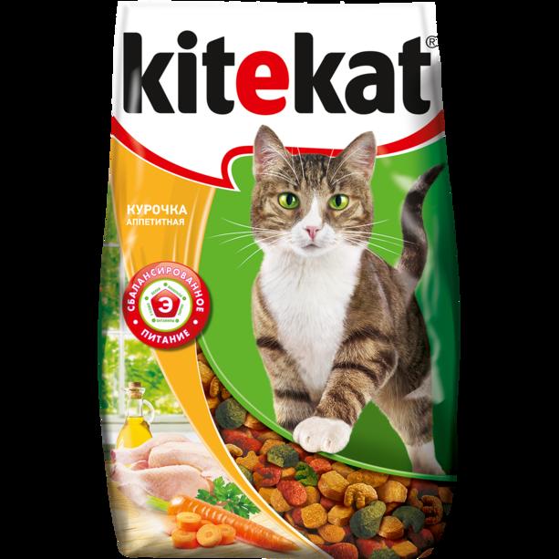 Сухой корм для кошек KITEKAT аппетитная курочка 800 грамм