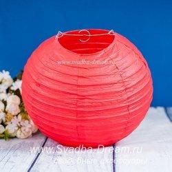Набор бумажных фонариков-шариков красного цвета 3 шт.