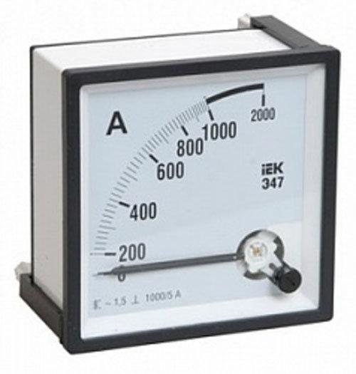 Амперметры IEK Э47 Амперметр 1000/5А класс точности 1,5 72х72мм (IPA10-6-1000-E) (IPA10-6-1000-E)