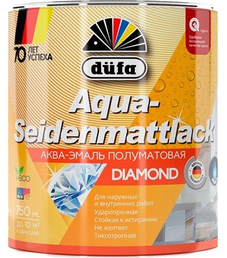Эмаль для дерева и металла акриловая Dufa Aqua-Seidenmattlack полуматовая белая 750 г.