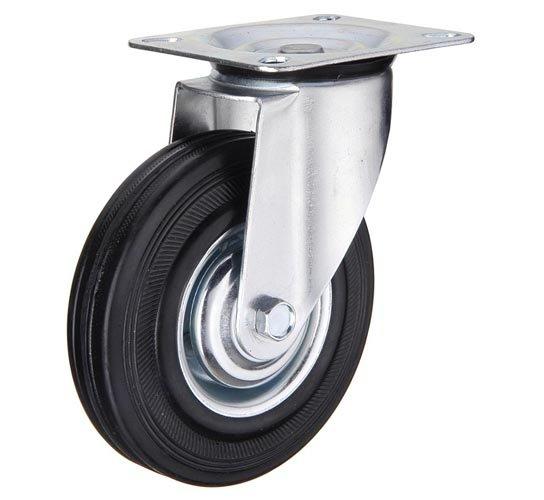 Колесо промышленное - SC 80 - опора поворотная 200 мм черная резина