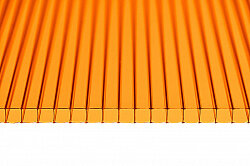 Поликарбонат сотовый Ultramarin Оранжевый 4 мм