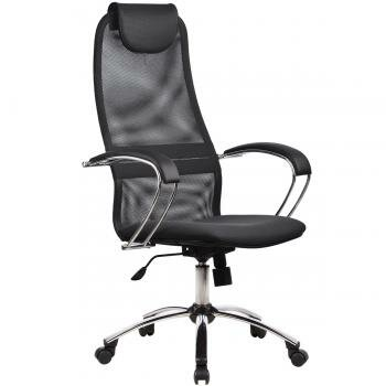 Кресло руководителя/кресло для посетителя/кресло офисное/кресло детское Компьютерное кресло Metta BK-8 Ch Сетка Тёмно-серый