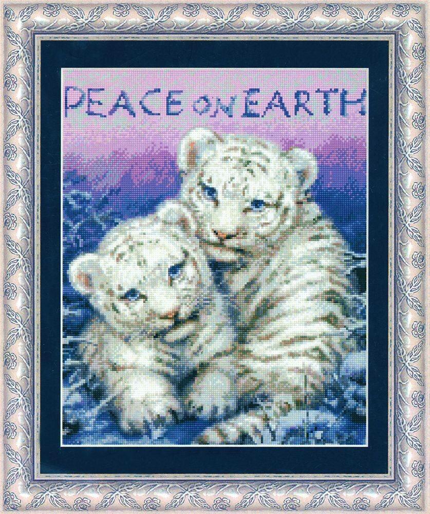 Набор для вышивания Kustom Krafts 99507 Мир на земле