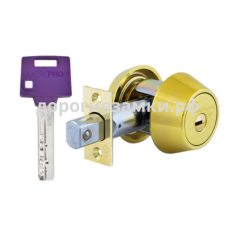 Товар: Замок дед-болт Mul-t-lock Hercular MT Classic Pro ключ-вертушка - Латунь