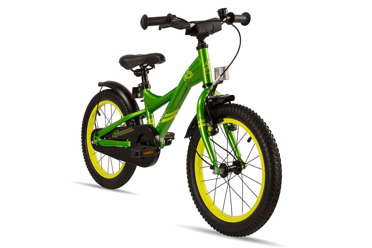Велосипед Scool XXlite 16 steel (зеленый)