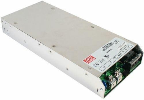 Преобразователь AC-DC сетевой Mean Well RSP-1000-12 источник питания 12В с диапазоном входных напряжений 90-264 В, мощность 720Вт