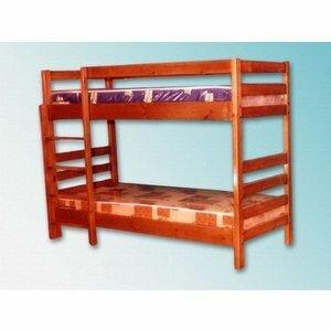 Кровать детская Дача №10 из массива дерева двухъярусная