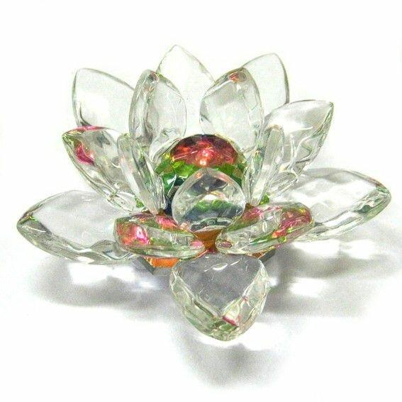 Фигура Лотос радужный 6 см стекло