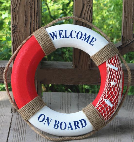 Декоративный спасательный круг. Красный 50 см. Вариант 3