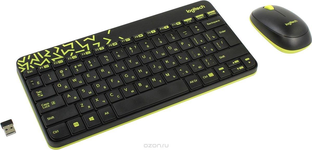 Logitech Wireless Desktop MK240 Nano, Black клавиатура + мышь