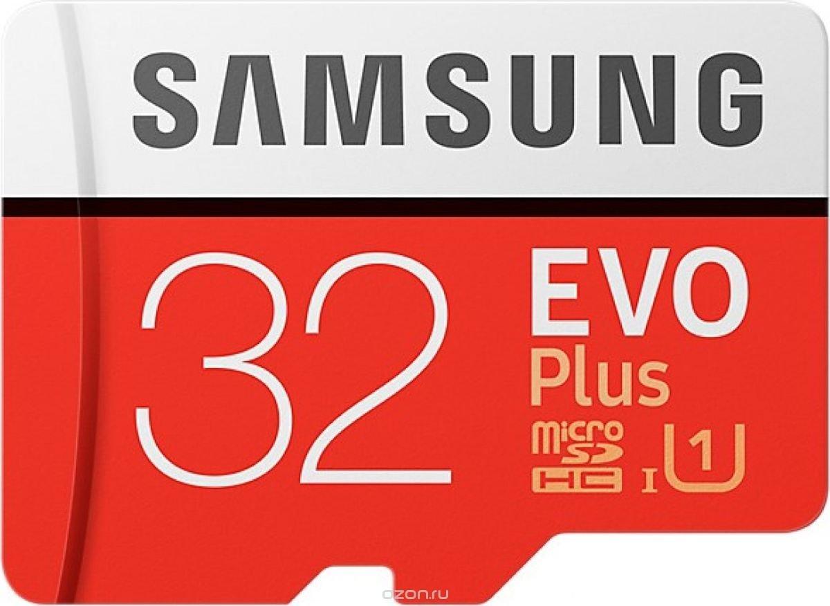 Samsung microSDHC EVO+ V2 32 GB карта памяти с адаптером
