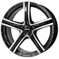 Диск Rial Quinto 8x18/5x114.3 D70.1 ET45 Diamond Black Front Polished - фото 1