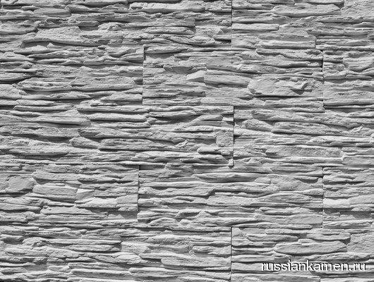 Искусственный камень Сланец тонкослойный Белый 1м2