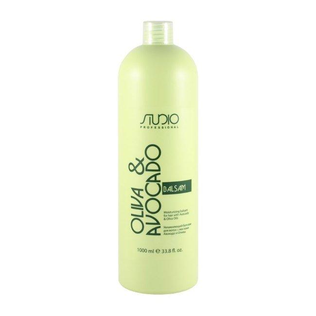 Бальзам увлажняющий для волос с маслом авокадо и оливы линии Studio Professional, 1000мл