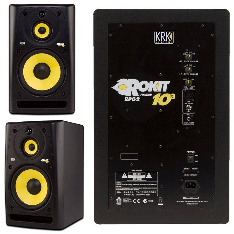 KRK SYSTEMS KRK RP103G3 активный трехполосный студийный монитор