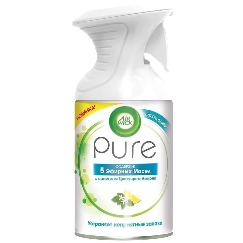 Освежитель воздуха Air Wick Pure 5 эфирных масел Цветущий лимон 250 мл