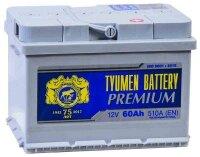 Аккумулятор автомобильный TYUMEN BATTERY PREMIUM 60 А/ч 510 А обр. пол. низкий Евро авто (242x175x175)