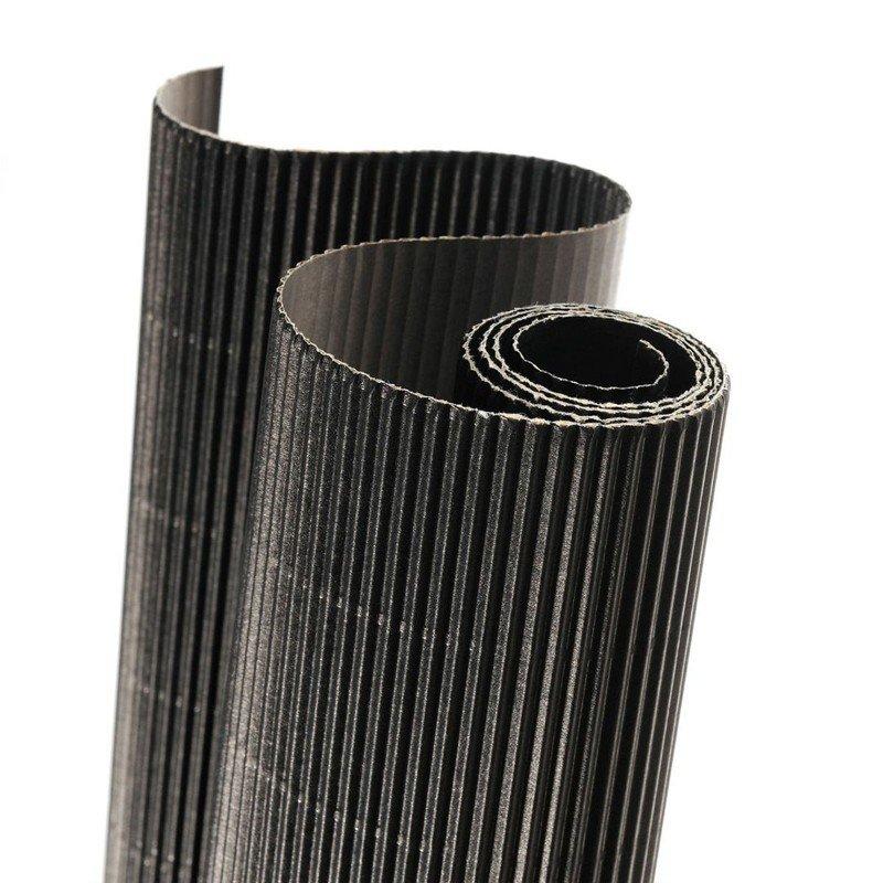 Картон гофрированный Canson Картон гофрированный цветной CANSON, 300г/м2, рулон 50х70см, 29 Черный; 10рул./упак.