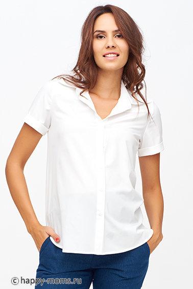 8147b33a299 Классическая белая блузка для беременных купить в интернет магазине 👍