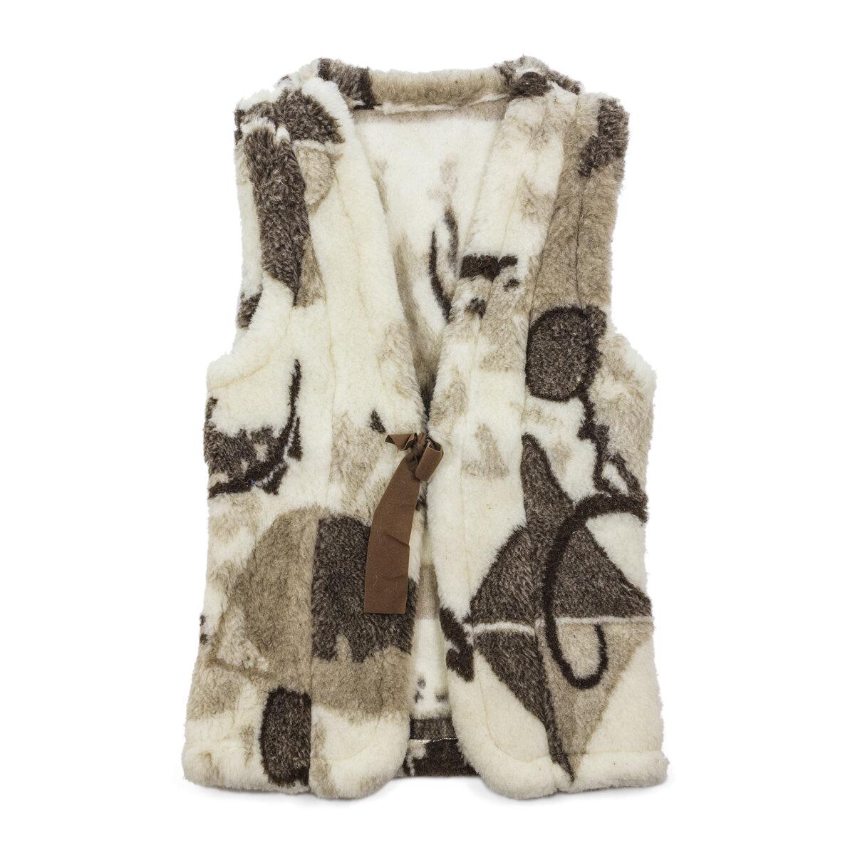 Жен. жилет Smart Textile Силуэт Белый размер 52-54 Овечья шерсть