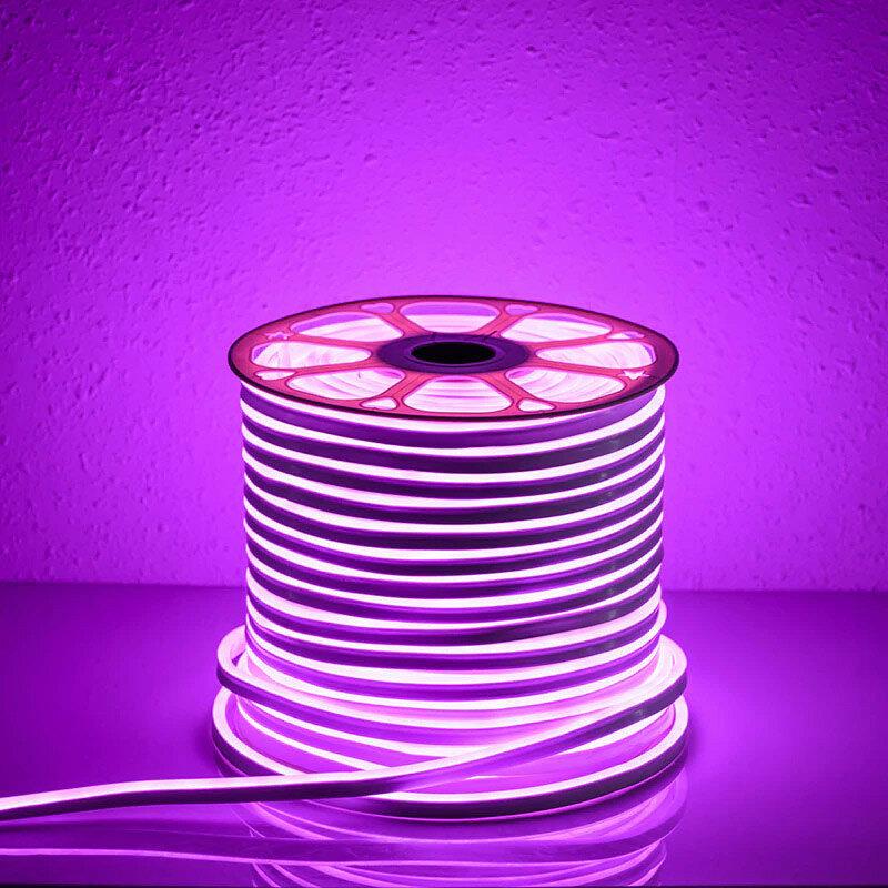 Светодиодный гибкий неон 12 Вольт 2835-120 диодов ( 8*16мм) high lum (продажа кратно 5м)