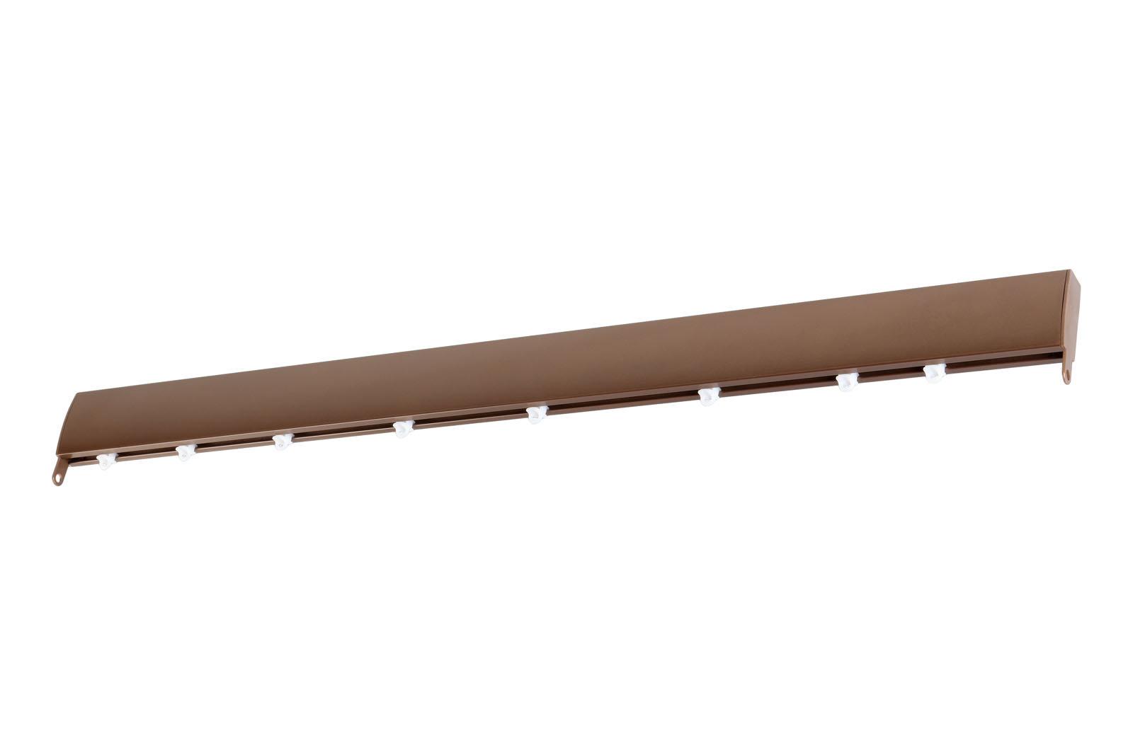 Уют Профильный карниз для штор Мега коричневый