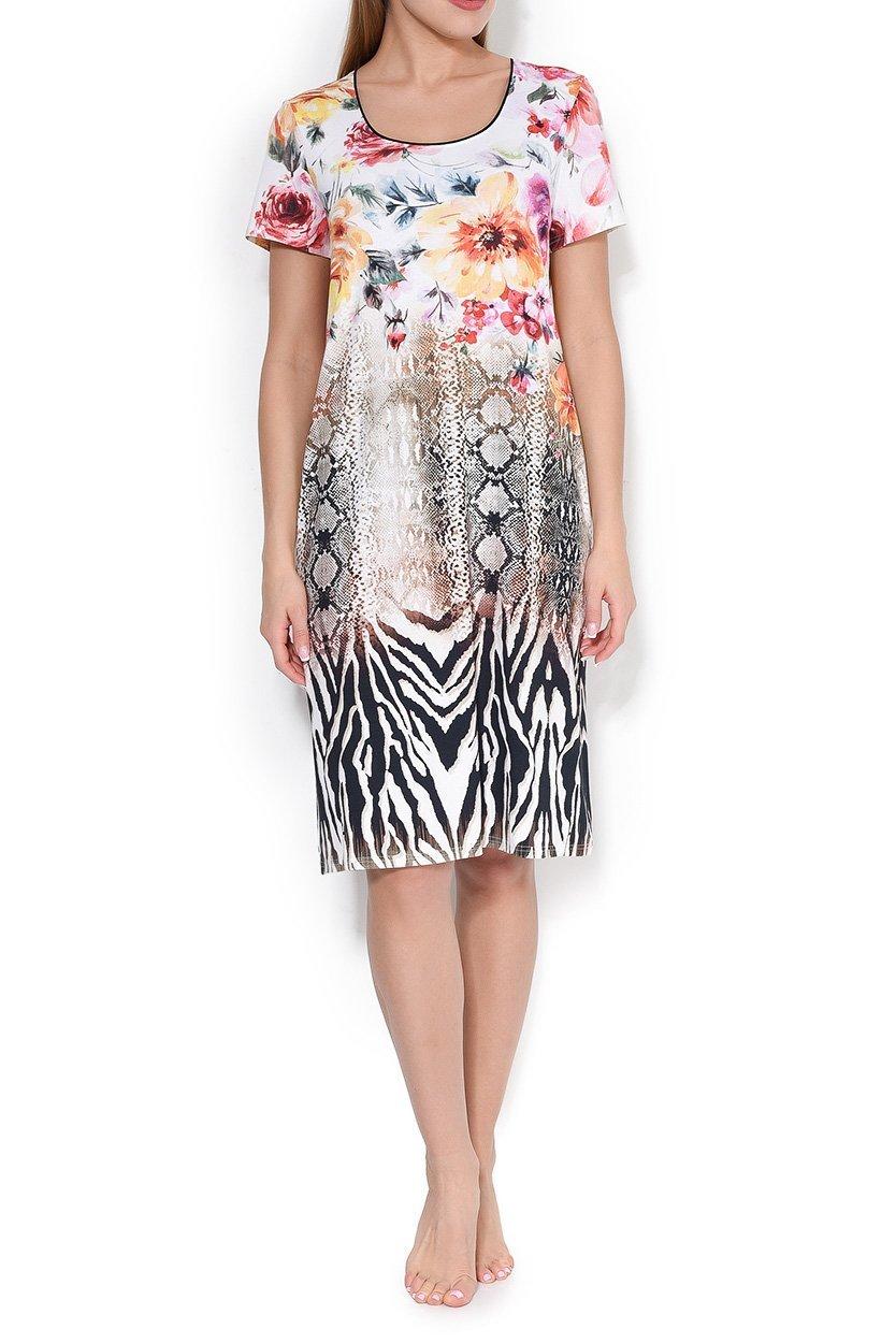 ad46b5116b2 742259 Цветы - платье трикотажное Charmor (разноцветный)