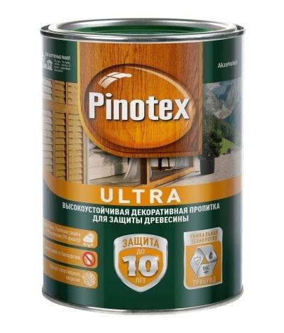 Пропитка PINOTEX ULTRA полуглянцевая орех 1 л.