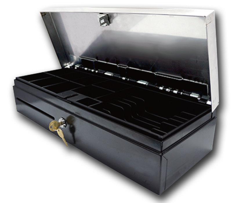 Денежный ящик STI CD-460-SSB, электромеханический, черный, 24V, распайка Штрих